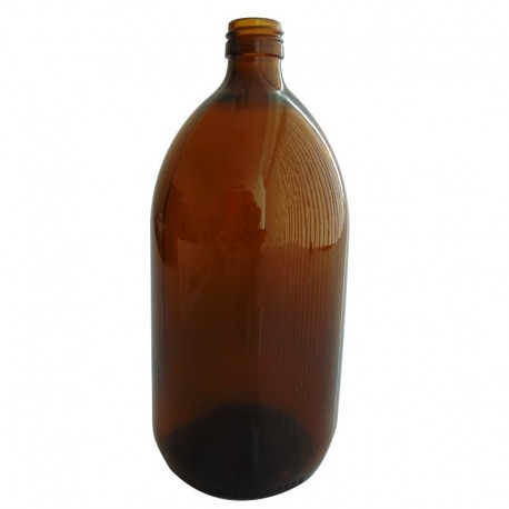FLACON SIROP VERRE 1000 ML