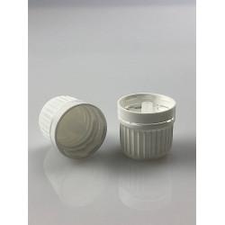 10 capsules blanches à visser DIN18 + insert compte-gouttes aqueux
