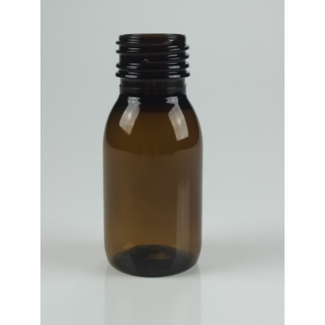 FLACON SIROP 50 ML PET/P AMBRE PP28