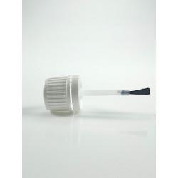 Capsule blanche inviolable Bague DIN 18 avec pinceau