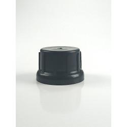 Bouchon cloche PP noir inviolable + godet PFTE DIN45