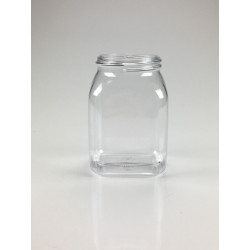 RECIPIENT CARRE 200ML PET/G CRISTAL A COL LARGE