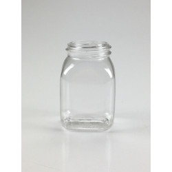 RECIPIENT CARRE 50ML PET/G CRISTAL A COL LARGE