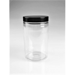 POT STRAIGHT CYLINDRICAL 400ML + COUVERCLE