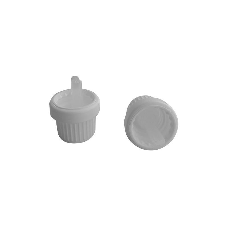 Capsule blanche inviolable Bague DIN 18 avec insert