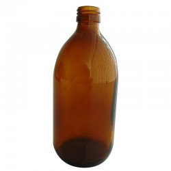 FLACON SIROP VERRE JAUNE 500 ML