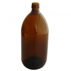 FLACON SIROP VERRE JAUNE 1000 ML