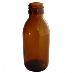 FLACON SIROP EN VERRE JAUNE DE 250ML PAR LOT DE 8