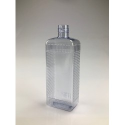Flacon rectangulaire 500ml PVC transparent
