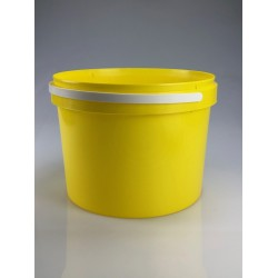 Seau conique 8,6 litres jaune