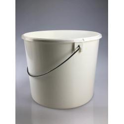 Seau conique 8 litres blanc