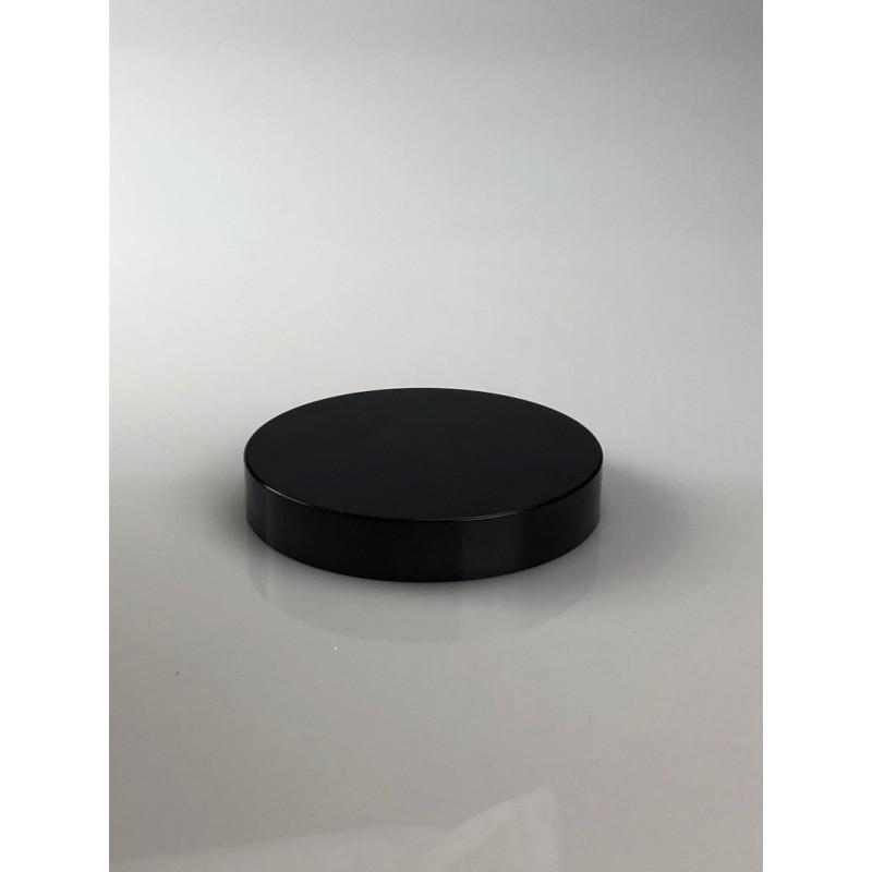Couvercle rond plat lisse noir jointé 400/89