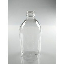 FLACON SIROP 500 ML PET CRISTAL BAGUE PP28