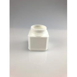 POT CARRE A VIS 250ML PEHD BLANC BAGUE 65V