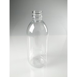 FLACON SIROP 300 ML PET CRISTAL BAGUE PP28
